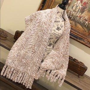 Adrienne Landau Faux Fur Cozy Wrap w/ Pockets NWT